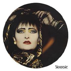 SIouxsie & The Banshees picture LP. Late 1980s./ I used to luv to rock yellow eye shadow back then so pretty...