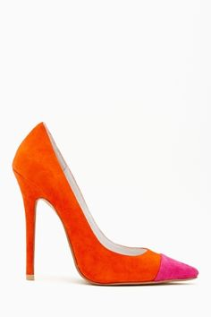 Darling Pump in Colorblock by #JeffreyCampbell