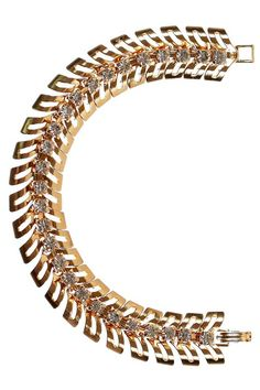 1970s fish-spine bracelet, part of SHOPETHICA.COM's exclusive vintage jewelry collection by @modemarteau.