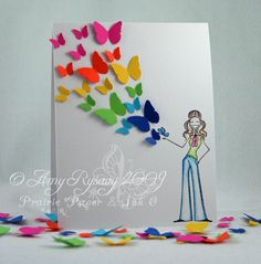 A beautiful butterfly card from prairie paper & ink