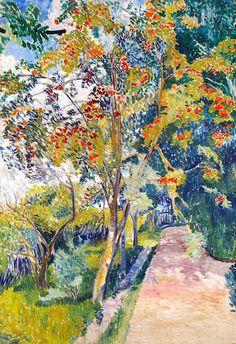 The Rowan Tree - Natalia Goncharova 1907-1908