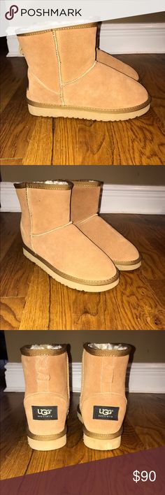 Womens Classic 2 Mini Uggs new-never worn before (but dont have original box) COLOR: Chestnut     very comfy and cozy with fur on the inside UGG Shoes Winter & Rain Boots