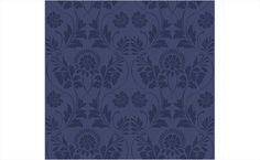 another navy wallpaper possibility for the pink bathroom: Damask Floral Textured Wallpaper by Antonina Vella for Seabrook Wallcoverings