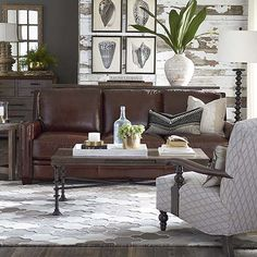 Designer living room furniture Sitting Room Meridian Sofa By Bassett Furniture Brown Leather Couch Living Room Brown Leather Sofa Living Room Pinterest 78 Best Living Room Ideas Images In 2019 Tv Apartment Ideas