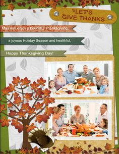 warm family thanksgiving greeting card
