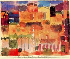 Paul Klee watercolor paintings