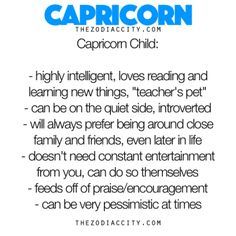 Zodiac Files: The Capricorn Child. #capricorn