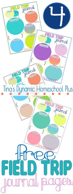 4 Free Homeschool Field Trip Journal Pages.  #fieldtrips #ihsnet