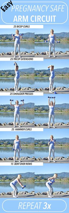 Pregnancy Safe Workout- Arm Circuit #PregnancyExercise