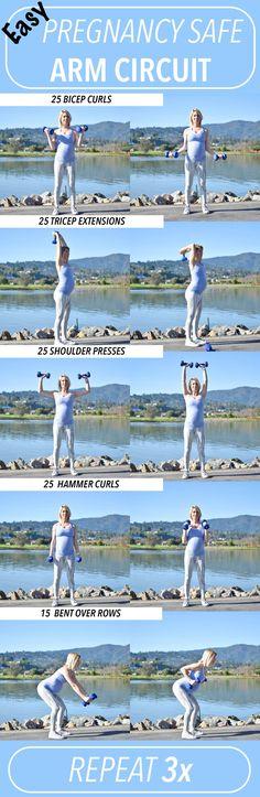 Pregnancy Safe Workout- Arm Circuit #PregnancyExercise