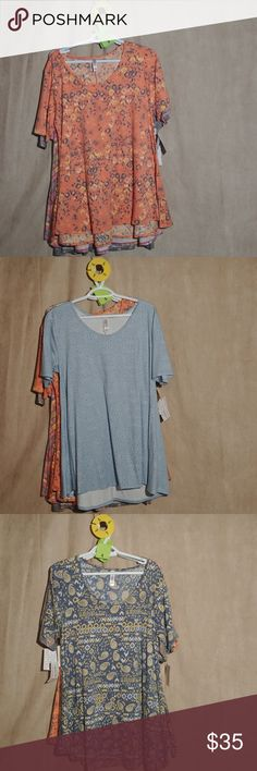 Lularoe Perfect T LuLaRoe's Perfect T boasts a fun swing shape complimented by flirty side slits and a flattering half-sleeve that makes this simple, comfortable top the star of any outfit. Pair it with any of LuLaRoe's skirts and leggings for a look that can't be ignored! LuLaRoe Tops Tees - Short Sleeve