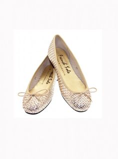 French Sole gold metallic flats