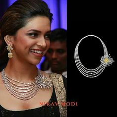 Nirav Modi Stylish Jewelry, Luxury Jewelry, Fashion Jewelry, Diamond Necklace Set, Diamond Jewelry, Gold Jewelry, Jewelry Trends, Jewelry Sets, Jewelery