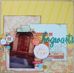 Weekly Challenge :: Put a Book in your Scrapbook (pretty paper. true stories…