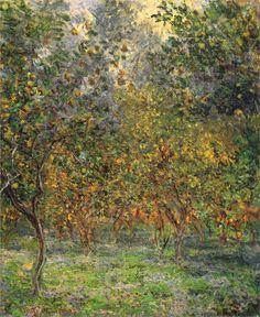 """Claude Monet """"Under the Lemon Trees, 1884"""""""