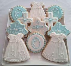 Christening-Baptism Decorated Cookies