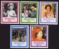 Bermuda QE II 60th Birthday Stamps 60th Birthday, Postage Stamps, Postcards, Coins, British, Baseball Cards, Art, Art Background, Rooms