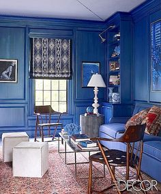 gorgeous blue room