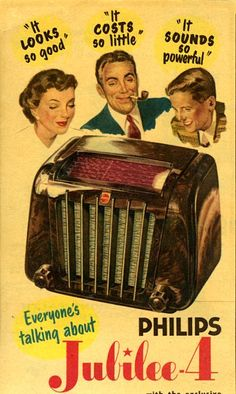 Philips Radio Vintage Ad