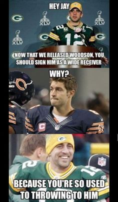 But seriously, how horrible would it be for Woodson to become a Bear?