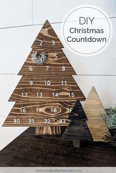 Easy DIY Christmas Countdown - Free Printable!
