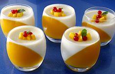panna cotta de mango sola
