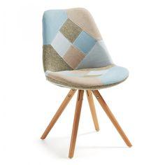 Silla Ralf patchwork, azul