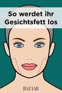 Schlanke Wangen und straffe Haut. Wir zeigen Ihnen, wie sie kleine Fettpolster im Gesicht effektiv loswerden