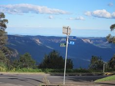 Blue Mountains, NSW Australia - really is blue..