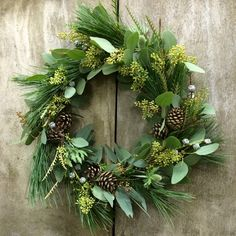 Mixed medium! <3  DIY Christmas wreath fir cones spruce christmas decoration natural materials