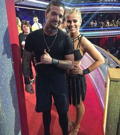 Mark Ballas and Paige VanZant #TeamPowRightInTheKisser
