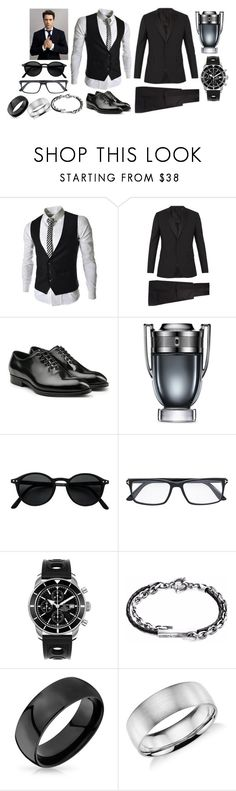 """Sans titre #904"" by susanaxalex ❤ liked on Polyvore featuring Valentino, Dolce&Gabbana, Paco Rabanne, Tom Ford, Breitling, Anchor & Crew, Bling Jewelry, Blue Nile, men's fashion and menswear"