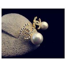 Cercei Rotunzi ( Perle/Piatră Preţioasă/Argilă/Placat Auriu )-de Nuntă/Petrecere/Casual – EUR € 6.99