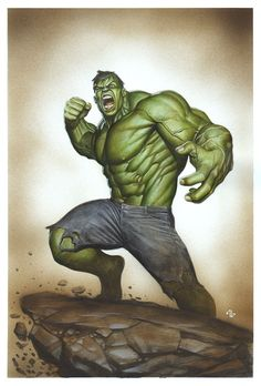 Hulk Painting Comic Art