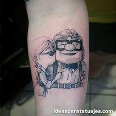 Adorables tatuajes con personajes de las películas de Disney Pixar