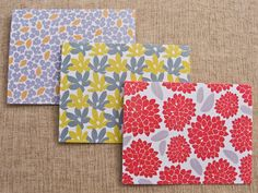 Botanical Note Cards - set of 6 from Laura Macchia $15