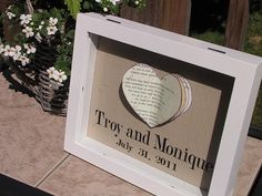personalized wedding or anniversary gift - DIY