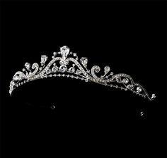 Lovely Rhinestone Swirl Design Princess Bridal Tiara