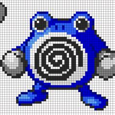 Big Poliwhirl bead pattern Hama Beads Patterns, Beading Patterns, Pokemon Cross Stitch, Stitch Character, Pokemon Perler Beads, Pixel Art Templates, Nerd Crafts, Pixel Pattern, Minecraft Pixel Art