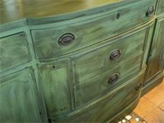 Painted and distressed buffet $275