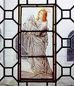 NRW-Stiftung - Glasfenster im Kreuzgang von Kloster Rietberg