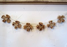 Rustic Shamrock Garland from We Know Stuff
