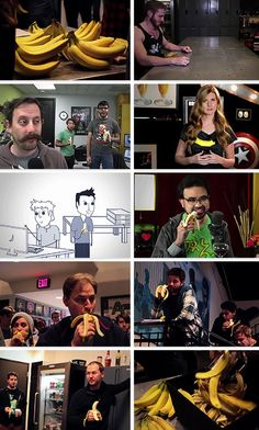 That time the entire company had to eat bananas for an episode of immersion