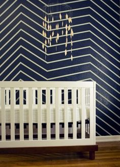 a modern take on chevron stripes