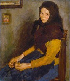 Parasztlány, 1900-as évek eleje. Fényes Adolf magyar festő (1867-1945