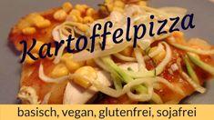LichtRaum Wettengel: Kartoffelpizza - einfach, schnell, basisch, vegan,... Tacos, Mexican, Vegan, Chicken, Ethnic Recipes, Food, Healthy Food, Glutenfree, Simple