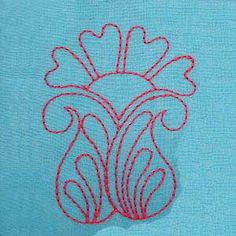Free Embroidery Design: Freehand Floral Block