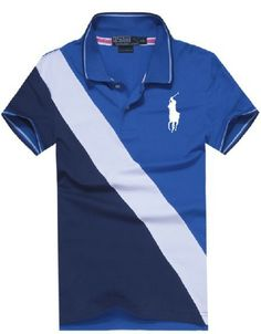 Cheap Polo By Ralph Lauren Men Custom Fit Big Pony Polo Blue For Sale c94d8fdd8f3f3