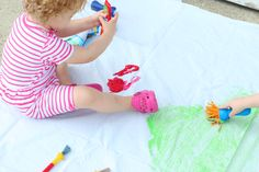 We've got easy ideas that transform items like shower curtains, pool noodles, and craft sticks into hours of play time. Craft Stick Crafts, Craft Gifts, Craft Sticks, Preschool Art Activities, Creative Activities, Diy And Crafts Sewing, Diy Crafts, Art For Kids, Crafts For Kids