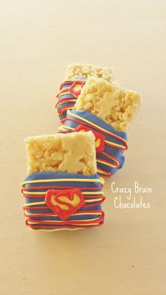 Superman Rice Krispie Treats 12 by CrazyBrainChocolate on Etsy